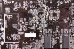 Texture de brun de panneau d'ordinateur images stock