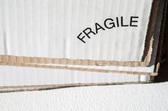 Texture de côté blanc et brun posé de carton Cardbo plié Photos libres de droits