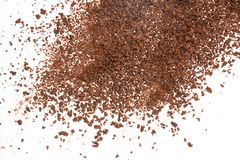 Texture de café soluble sur le fond blanc photos libres de droits
