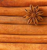 Texture de cannelle Images stock