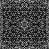 Texture de carrelage sans couture ornementale noire et blanche illustration libre de droits