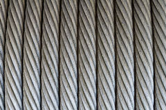 Texture de câble métallique Photos stock