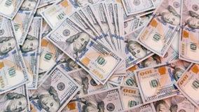 Texture de cent billets d'un dollar Image libre de droits