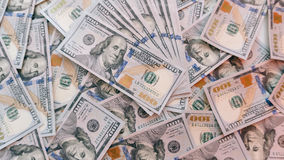 Texture de cent billsn du dollar Images libres de droits