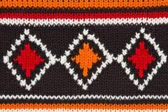 Texture de chandail de Knit. orange, noir, blanc Image stock