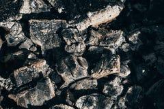 Texture de charbon de bois naturel refroidi par noir photo libre de droits