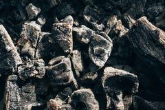 Texture de charbon de bois naturel refroidi par noir image stock