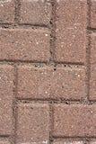Texture de chemin de marche de brique rouge Photographie stock libre de droits