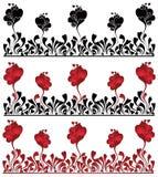 Texture de coeur de pavot Images libres de droits