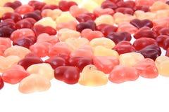 texture de coeurs de sucrerie de gelée Photos stock
