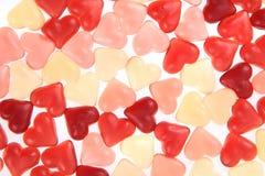 texture de coeurs de sucrerie de gelée Images stock
