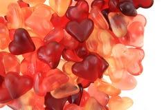 texture de coeurs de sucrerie de gelée Images libres de droits
