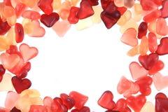 texture de coeurs de sucrerie de gelée Photo stock
