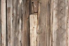 Texture de conseils en bois avec des traces du vieux trellis Photo libre de droits