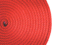 Texture de corde rouge Photographie stock libre de droits
