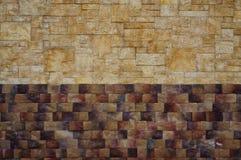Texture de couleurs du mur en pierre deux Photo stock