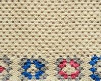 Texture de crochet avec des motifs carrés Image stock
