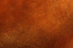 Texture de cuir de Brown Photographie stock