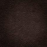 Texture de cuir de brun foncé images libres de droits