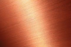 Texture de cuivre balayée par amende Images stock