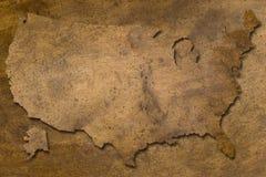 Texture de cuivre des Etats-Unis Photos stock