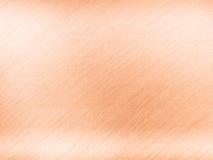 Texture de cuivre légère en métal ou d'acier avec des rayures de réflexion Photographie stock libre de droits