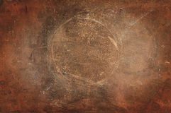 Texture de cuivre superficielle par les agents Images stock