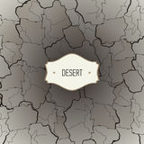 Texture de désert avec des fissures Images libres de droits
