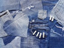 Texture de denim Photographie stock libre de droits