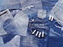 Texture de denim Images stock