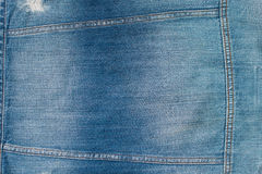 Texture de denim et de point pour le fond Photos stock