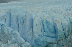 Texture de dessus et de côté de Perito Moreno Glacier Photos libres de droits