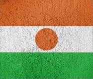 Texture de drapeau du Niger photographie stock