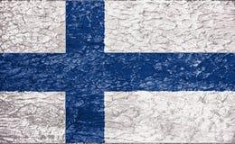 Texture de drapeau de la Finlande image libre de droits