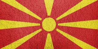 Texture de drapeau de Macédoine illustration libre de droits