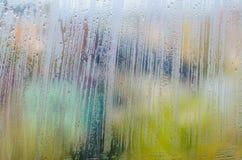 Texture de fenêtre de Misted Image stock