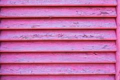 Texture de fenêtre en bois dans la couleur rose Images stock