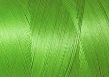 Texture de fil synthétique vert sur la bobine Image libre de droits