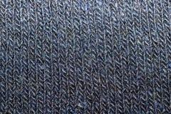 Texture de fin tricotée bleue de tissu  images libres de droits