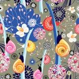 Texture de fleur avec des escargots Photo stock