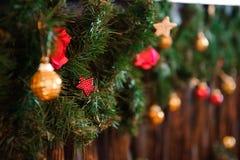 Texture de fond de carte de décoration de bonne année et de Joyeux Noël photographie stock
