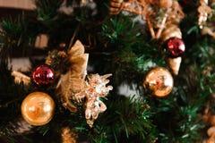 Texture de fond de carte de décoration de bonne année et de Joyeux Noël images stock