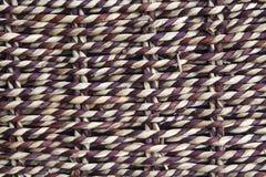 Texture tissée de fond d'armure de panier. Images libres de droits