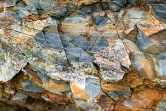 Texture de fond d'une pierre brune grise sur la roche du moun photographie stock libre de droits