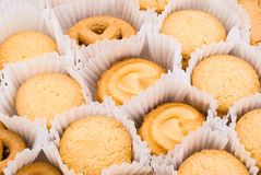 Texture de fond de biscuit de beurre Photo stock