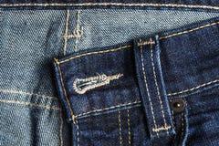 Texture de fond de blue-jean d'isolement Photo stock