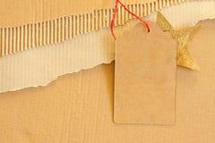 Texture de fond de carton ondulé Photographie stock