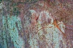 Texture de fond de métal rouillé de couleur Photographie stock libre de droits