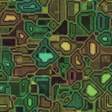 Texture de fond de technologie de Cyber (vert, jaune et rouge) Photos stock