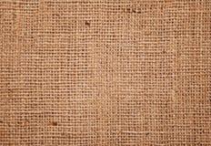 Texture de fond de tissu de toile de jute Photos libres de droits